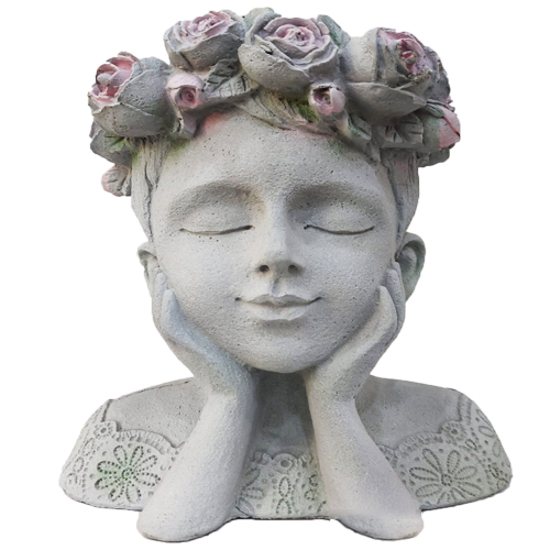 مزهرية شكل وجه فتاة يونانية رقمMK186-8
